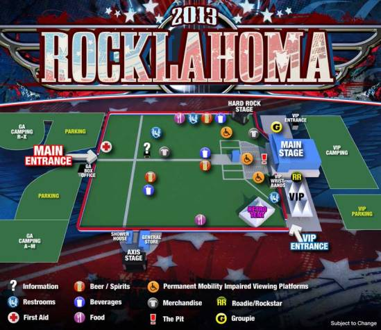 Rocklahoma-2013-Map